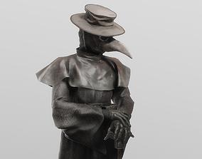 3D model The plague doctor