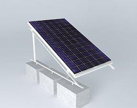 Schott solar installation minimal aluminium 3D model