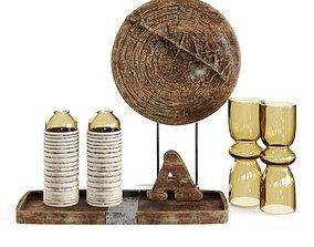 3D model Wooden set Maisons Inspired
