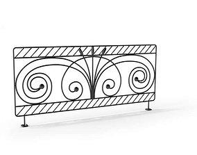 3D Black Designed Railing