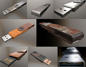 3D asset USB Stick Collection - Gameready - PBR Textures