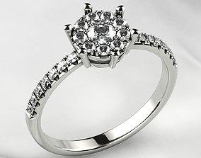 Gems Crown Gold Ring 3D printable model