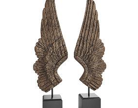 Bentley and Bo Pair of Large Angel Wings 3D model
