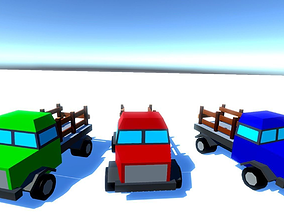 Medium Trucks 3D asset