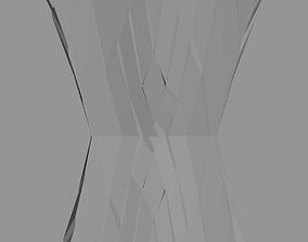 Futuristic Cubic Structure Pillar 3D asset
