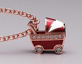 Baby car pendant 3D printable model