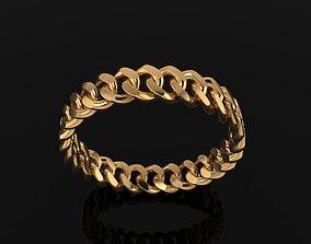 Cuban Link Band Ring SIZE 9 3D print model