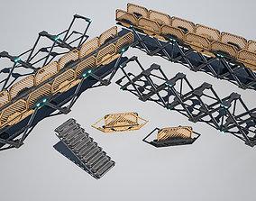 3D asset Cyberpunk Structure Foundation- sci fi 1