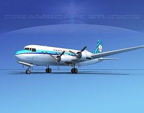 Douglas DC-6 KLM Roal Dutch Airlines 3D