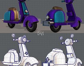 3D asset Scooter Cartoon
