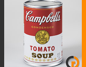 Campbells Tomato Soup Can 3D model