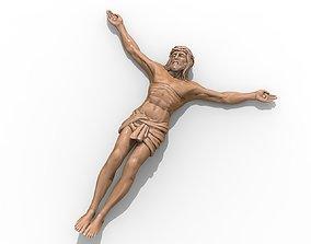 3D print model Jesus pendant jewelry cross pray