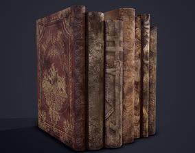Medieval Books Row 1 Design 1 3D model