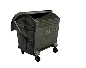 3D model game-ready Garbage Container