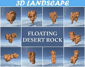 Low poly Floating Desert Rock Pack 200827 3D model
