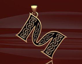 3D printable model Letter pendant 13 with celtic