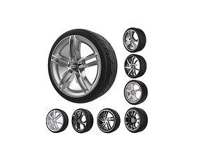 3D print model Car wheels set