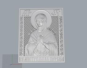 Virgin Mary with Sacred Heart Pendant 3D print model