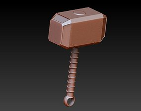 3D printable model Thor hammer pendant