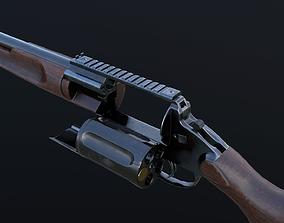 3D model VR / AR ready MTs255 revolver shotgun