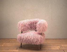 Fur Ade Lounge Chair 3D