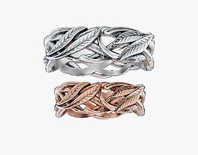 Wedding Rings Laurel Tree V1 3D print model