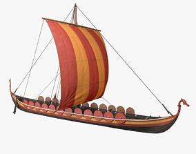3D model Viking Longship