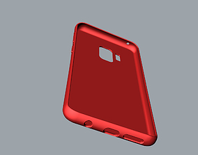Samsung Galaxy S9 red case 3D print model