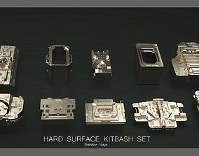 3D Hard Surface Kitbash Set- Boxes