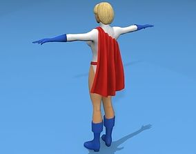 Power Girl 3D model