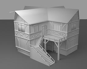 3D asset Medieval Tavern