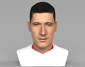 Robet Lewandowski World Cup 2018 bust for full color 3D 1