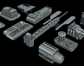 3D Big greeble collection 1