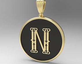 3D printable model letter Alphabet Latin N