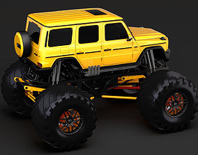 3D model Monster Truck Mercedes AMG G 65