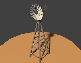 3D model Low Poly Wind Mill