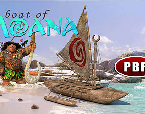 3D model PBR The Boat Of Moana