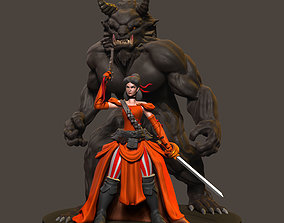 Bella and Beast Warrior 3D printable model