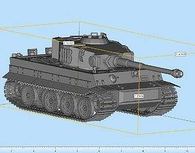 3D printable model Tiger Tank Highly Detailed artilery