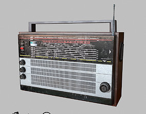 3D asset VR / AR ready Old USSR Radio low-poly