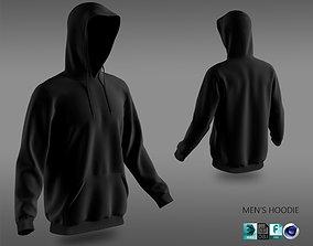 3D model PBR hoodie