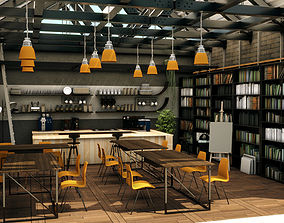 3D Cool Coffee Shop