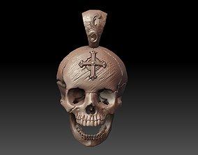 Skull Pendant 3D print model sculpture