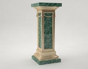 Pro - Pedestal Uffizi square column 3D model