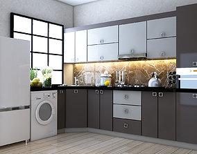 3D model Kitchen Yasildere