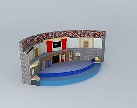 3D model Sea Lion Stadium SeaWorld San Diego