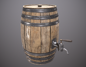 3D asset Beer Barrell - PBR Game Ready