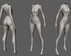 Low-poly character base 3D