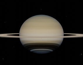 3D model Photorealistic Accurate Saturn System beta