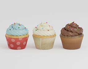 Cupcake G34 3D asset low-poly